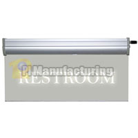 Restroom LED Clear Plexiglass Sign w/12V AC Adapter