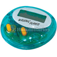 Digital Pedometer with Display of Pace and Calories Consumed