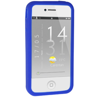 iPhone 4 / 4S Silicone Bumper - Blue (AT&T / Verizon / Sprint)