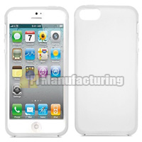 iPhone 5s Case with Frosted Plastic Back Cover - White