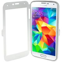 Samsung Galaxy S5 TPU Folio Case - Frost White