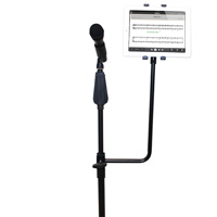 14 inch High Universal Tablet Microphone Stand Attachment Bracket for 7-10 inch Tablets