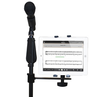 Universal Tablet Microphone Stand Attachment Bracket for 7-10 inch Tablets