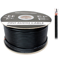 500ft 20AWG 2 Conductor Balanced Microphone Cable, 7.5mm OD, Braid Shielding