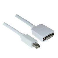 12 inch Mini DisplayPort Male to DVI Female Adapter Cable