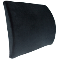 Premium Lumbar Back Support Orthopedic Memory Foam Cushion - Black