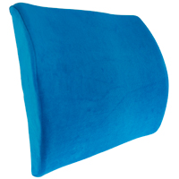 Premium Lumbar Back Support Orthopedic Memory Foam Cushion - Blue