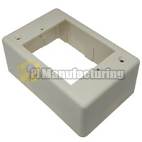 Surface Mount Junction Box, Single Gang, Ivory