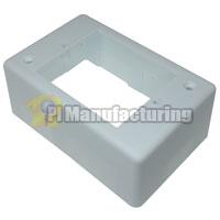 Surface Mount Junction Box, Single Gang, White