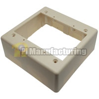 Surface Mount Junction Box, Dual Gang, Ivory
