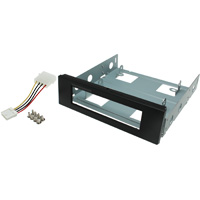 Mounting Bracket for 3.5 inch Floppy Drive 5.25 inch Bay - Black