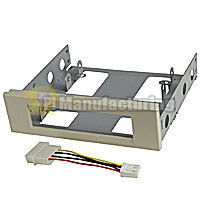 Mounting Bracket for 3.5 inch Floppy Drive to 5.25 inch Bay