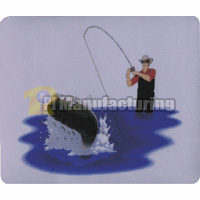 Mouse Pad with Fishing Design, 230 x 180 x 3 mm