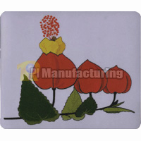 Mouse Pad with Peach Design, Size:230 x 180 x 3 mm