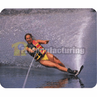 Mouse Pad with Water Skiing Design, 230 x 180 x 3 mm