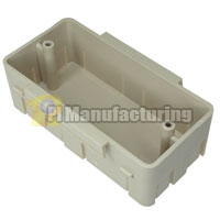 Data Box for Multi-Channel 4 inch Raceway, Ivory