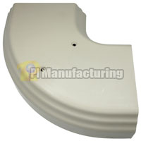 Flat Elbow for Multi-Channel 4inch Raceway, Ivory