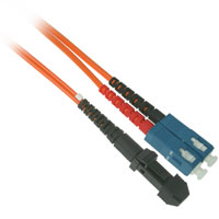 Fiber Optic Cable, MTRJ to SC, Multimode Duplex (62.5/125) - 3 Meter