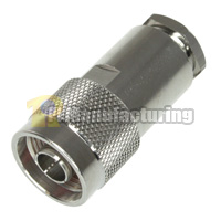 N Male Connector, Clamp Type, for LMR-400 (7D-2V)