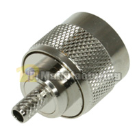 N Male Connector, Crimping, for RG400