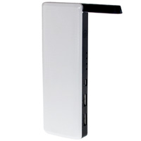 8000mAh Power Bank Dual USB Ports with LED Torch and Built-In Desk Lamp for Smartphones, Tablets, and Other USB Devices