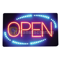LED OPEN Sign, Acrylic, Square, 22.75 x 13.75 x 1 inch