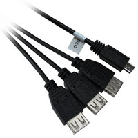 1ft USB 2.0 Micro-USB B Male to 3 x USB A Female OTG Cable for Google Nexus, Samsung Galaxy, etc.