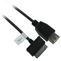 6 inch USB 2.0 Samsung 30-Pin Male to USB A Female OTG Cable