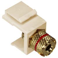Deluxe Gold Plated Banana Jack Keystone Jack Red Coded - Beige