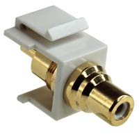 RCA Keystone Jack - White (Female to Male)