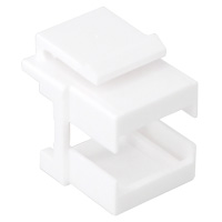Unloaded Fiber SC Keystone Insert - White