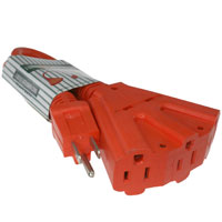 25ft 12AWG 3 Outlet Extension Cord