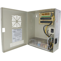 12V DC Power Distribution Box with Circulation Window, 9 Ports, 10 Amps, PTC Fuses, UL
