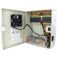 24V DC Power Distribution Box with Circulation Window, 18 Ports, 18 Amps, PTC Fuses, UL / cUL