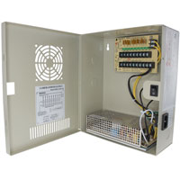 24V DC Power Distribution Box with Circulation Window, 9 Ports, 10 Amps, PTC Fuses, UL / cUL