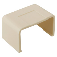 1-1/4 inch End Cap for Raceway, Ivory