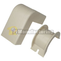 1-3/4 inch Outside Corner and Base for Raceway, Ivory