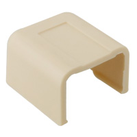 3/4 inch End Cap for Raceway, Ivory