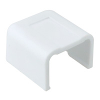 3/4 inch End Cap for Raceway, Ghost White