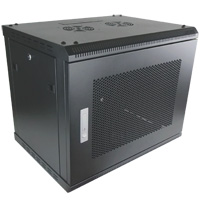 9U Wall Mount Cabinet with Mesh Front Door