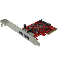 SuperSpeed+ USB 3.1 10Gbps x4 Lane PCIe Host Adapter with 2 x USB 3.1 Type A Ports