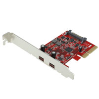 SuperSpeed+ USB 3.1 10Gbps x4 Lane PCIe Host Adapter with 2 x USB 3.1 Type-C Ports