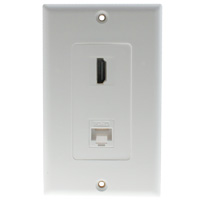 Decora HDMI and Cat5e Connector Wall Plate
