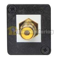RCA Keystone Type Chassis Mount, Female to Female - Yellow