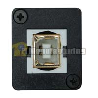 USB 2.0 Keystone Type Chassis Mount, B Female to B Female