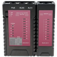 Cable and PoE Tester for RJ45, RJ11