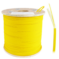 Single-mode 9/125 Bulk Zipcord Fiber Cable, LSZH 2 Fiber, OD:2mm 305 Meter (1000ft)