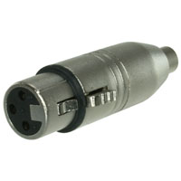 XLR 3-Pin Female to RCA Female Adapter