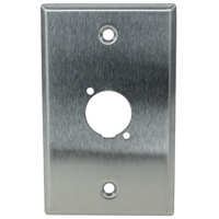 Single Gang 1 Opening XLR Wall Plate, Stainless Steel (For PVP555A-N, PVP561-N) Neutrik type