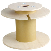 Plywood Cable Reel with Separation Layer (Fits up to 6mm OD Cable at 1000ft)